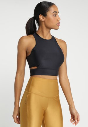 TECH PACK CROPPED TANK - Top - oil grey/black