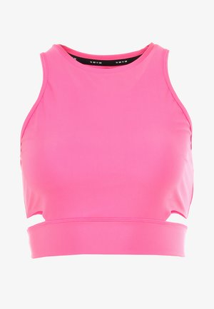 TECH PACK CROPPED TANK - Top - pinksicle/black