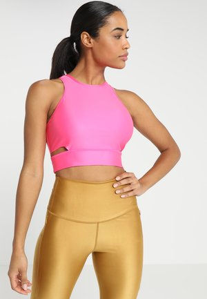 TECH PACK CROPPED TANK - Topper - pinksicle/black