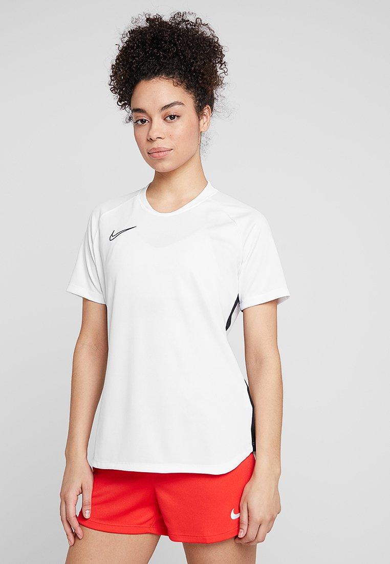 Nike Performance - DRY ACEDEMY TOP - Camiseta estampada - white/black