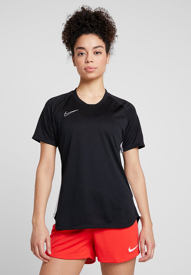 Nike Performance - DRY ACEDEMY TOP - Print T-shirt - black/white