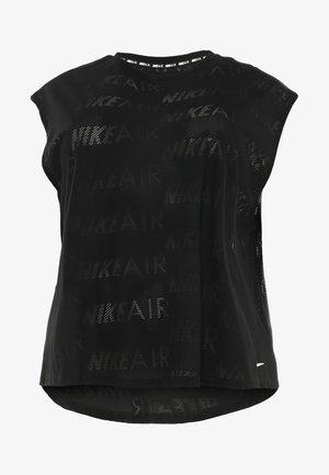 AIR PLUS - T-shirt basic - black/white