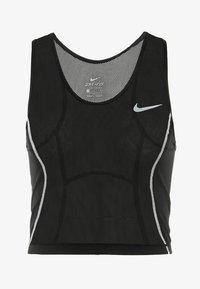Nike Performance - MILER TANK CROP - Funktionsshirt - black/white/reflective silver - 6