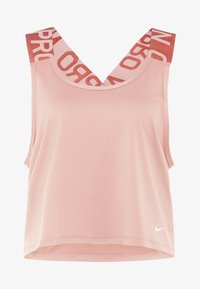 Nike Performance - INTERTWIST - Camiseta de deporte - rose gold/white