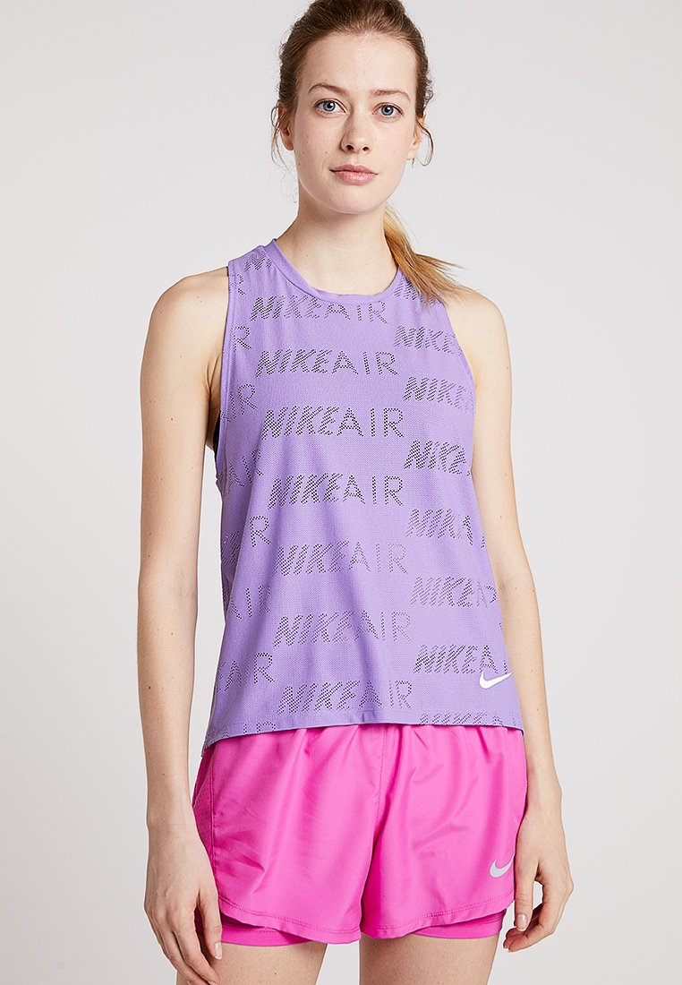 Nike Performance - TANK AIR - Top - space purple/white