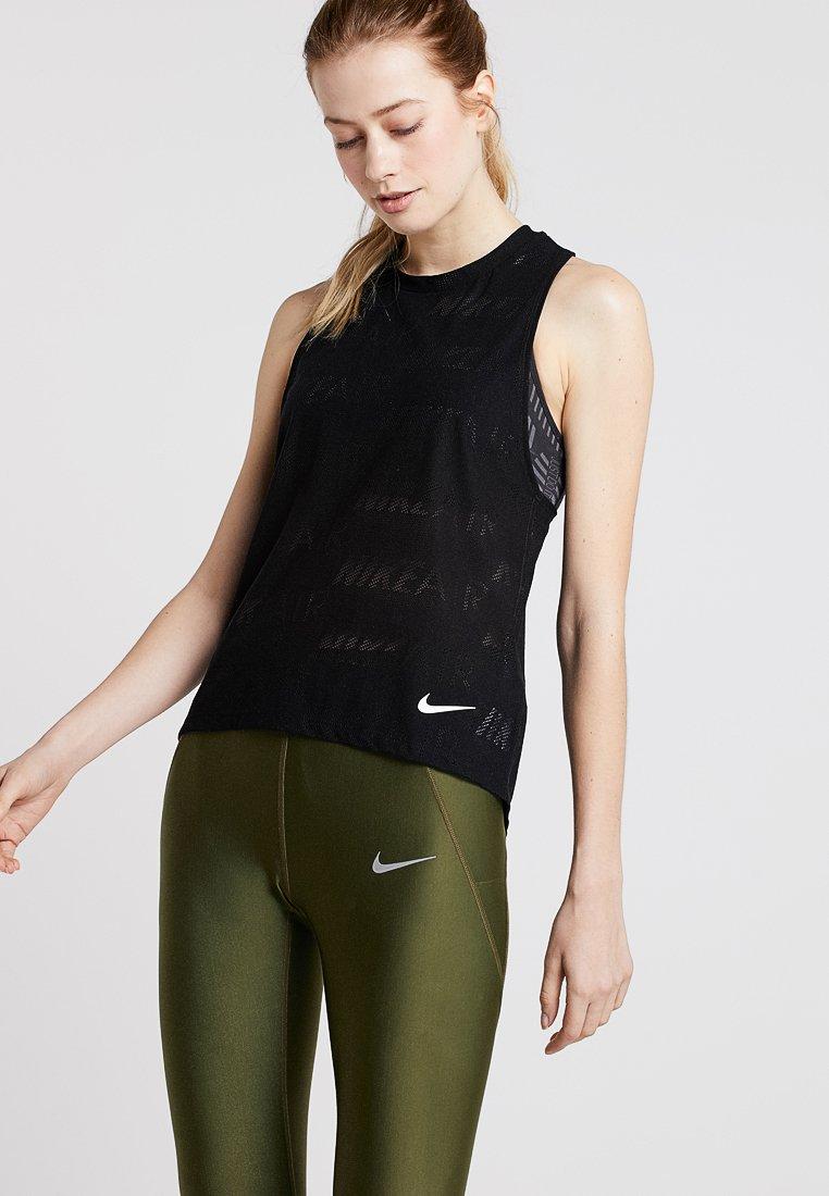 Nike Performance - TANK AIR - Toppe - black/white