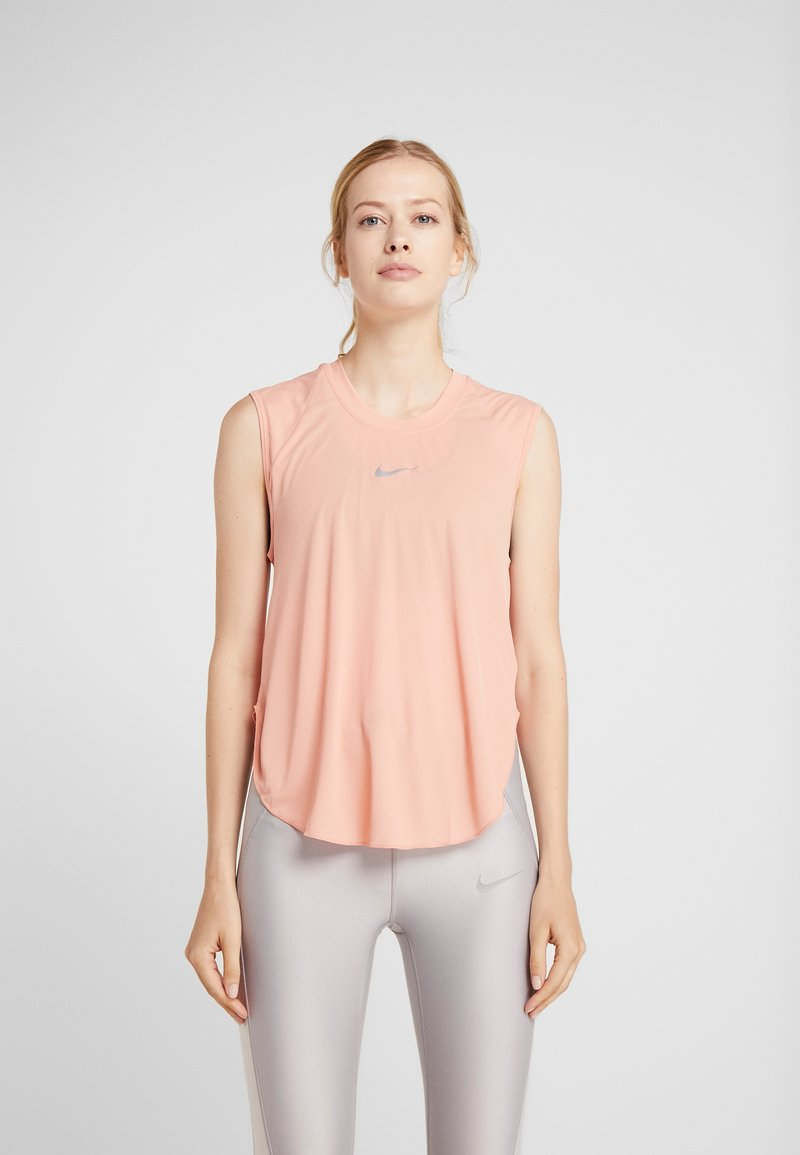 Nike Performance - CITY SLEEK TANK COOL - T-shirt sportiva - pink quartz/silver