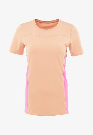 T-shirts med print - rose gold/laser fuchsia/white