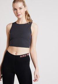 Nike Performance - TANK - Topper - oil grey/black - 0