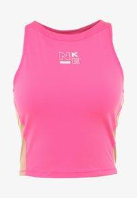 Nike Performance - TANK - Treningsskjorter - laser fuchsia/rose gold/white - 4