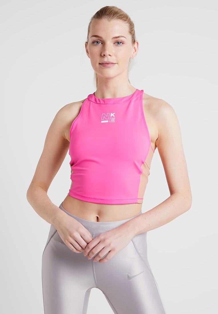 Nike Performance - TANK - Treningsskjorter - laser fuchsia/rose gold/white