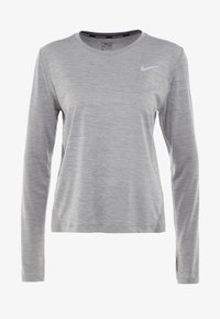 Nike Performance - MILER TOP - T-shirt sportiva - gunsmoke/heather/silver - 4