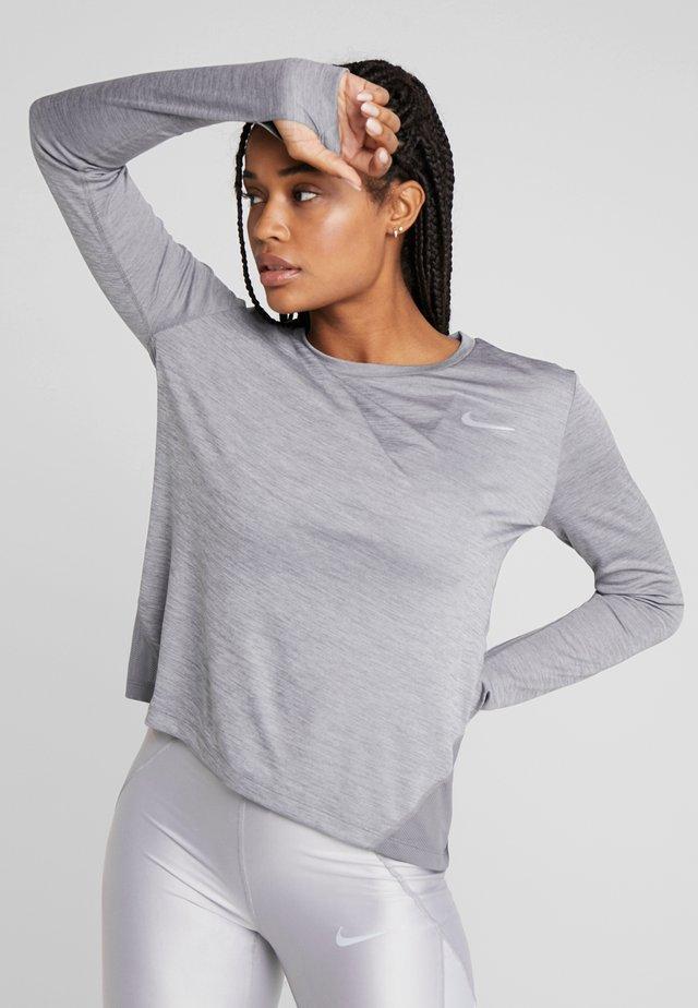 MILER TOP - Sports shirt - gunsmoke/heather/silver
