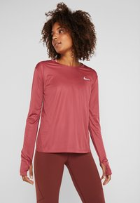Nike Performance - MILER TOP - Sports shirt - cedar/reflective silver - 0