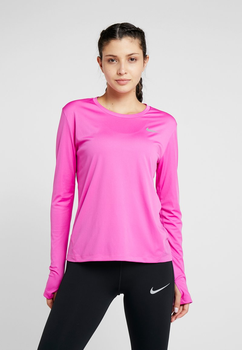 Nike Performance - MILER - Sportshirt - active fuchsia/silver