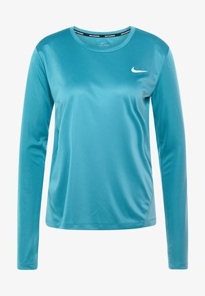 MILER TOP - T-shirt sportiva - mineral teal/silver