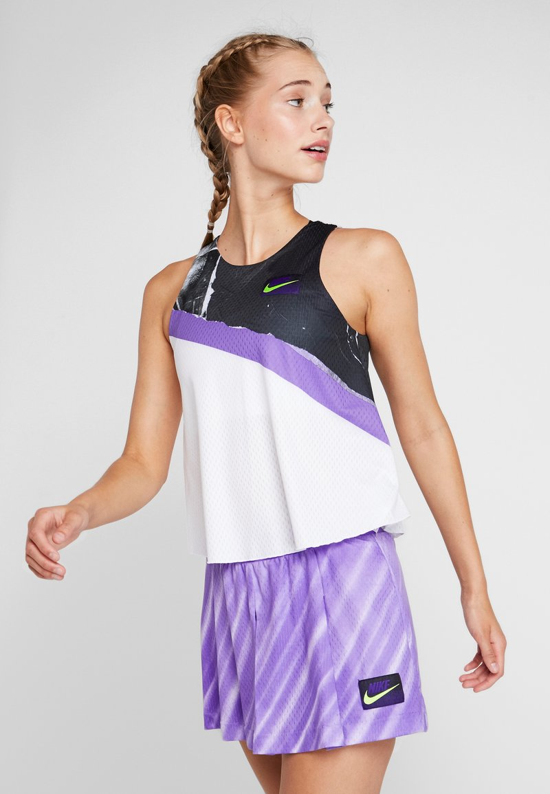 Nike Performance - TANK - Funkční triko - white/psychic purple/black/volt