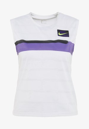 SLAM TANK - Sports shirt - white/court purple/black