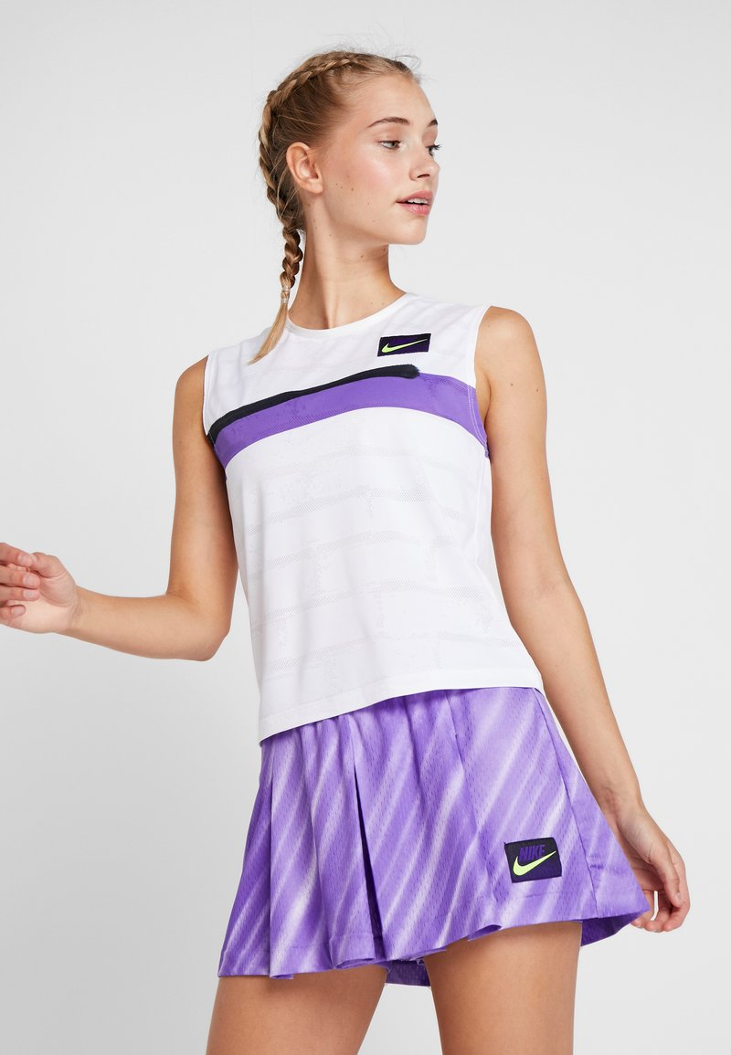 Nike Performance - SLAM TANK - Funkční triko - white/court purple/black
