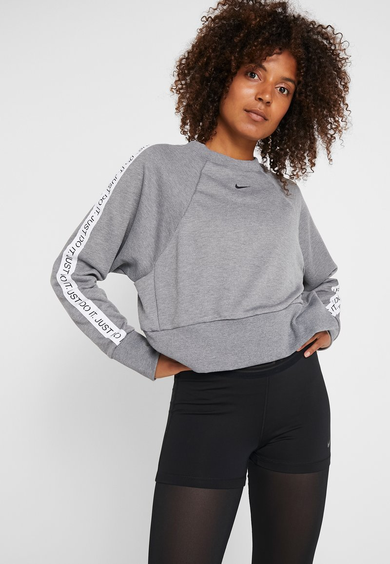 Nike Performance - DRY GET FIT  - Sweater - carbon heather/black