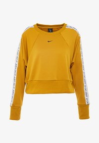 Nike Performance - DRY GET FIT  - Mikina - gold suede/black - 4