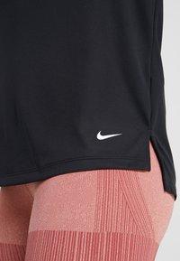 Nike Performance - DRY ELASTIKA - Funkční triko - black/white - 4