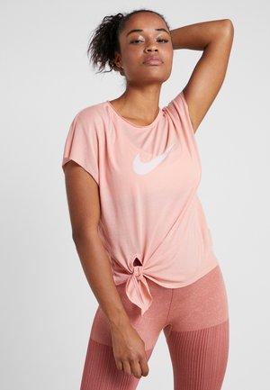 DRY SIDE TIE - T-shirt imprimé - pink/echo pink
