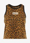 Nike Performance - DRY TANK LEOPARD CROP - T-shirt de sport - club gold/british tan/black/white