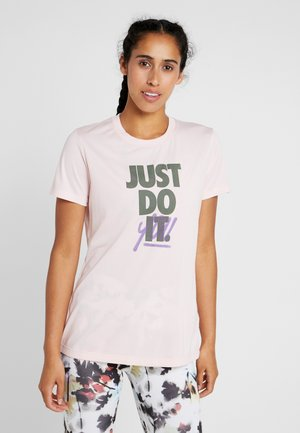 DRY TEE LEG REBEL CREW - T-shirts med print - echo pink/juniper fog/black