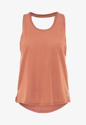 MILER TANK BREATHE - Camiseta de deporte - dusty peach/reflective silver
