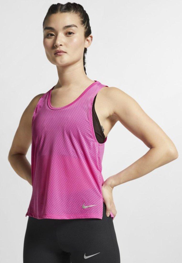 Nike Performance - MILER TANK BREATHE - Tekninen urheilupaita - neon pink
