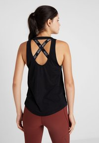 Nike Performance - MILER TANK BREATHE - Sports shirt - black/reflective silver - 2