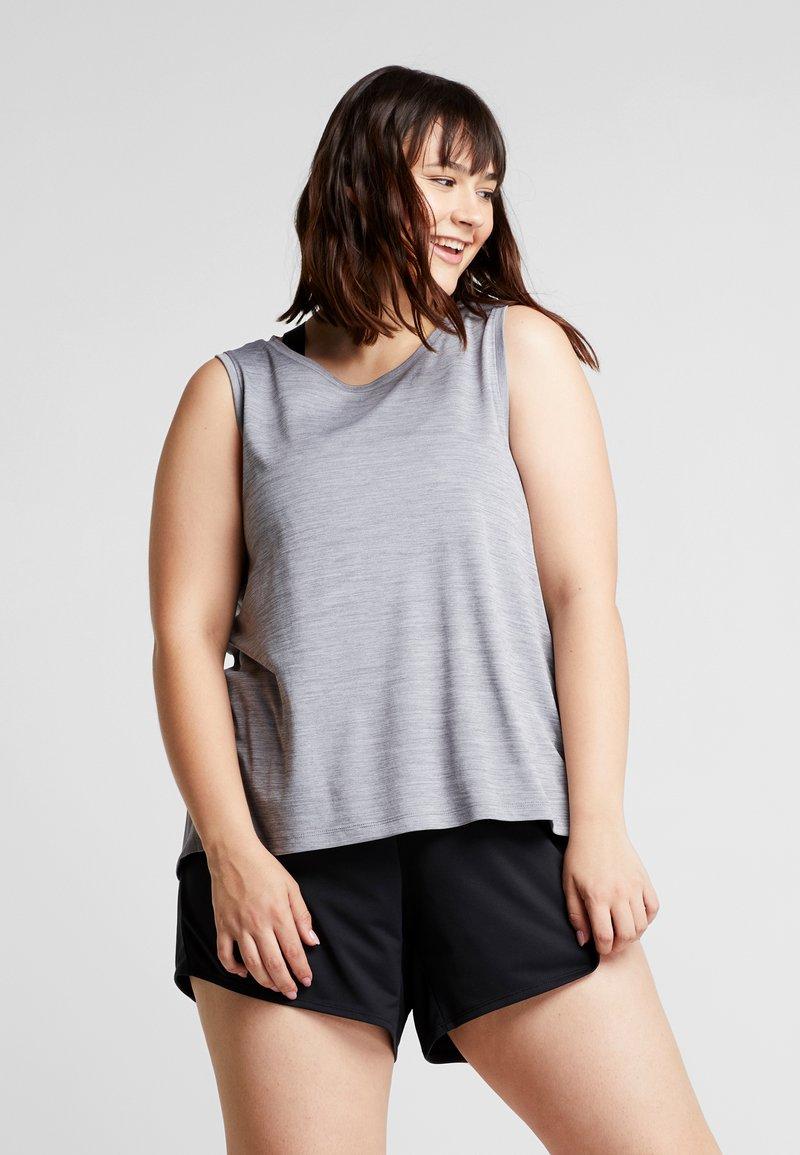 Nike Performance - MILER TANK PLUS - T-shirt de sport - gunsmoke/heather/silver