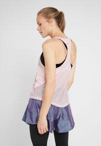 Nike Performance - MILER TANK RACER - Sports shirt - echo pink/reflective silver - 2