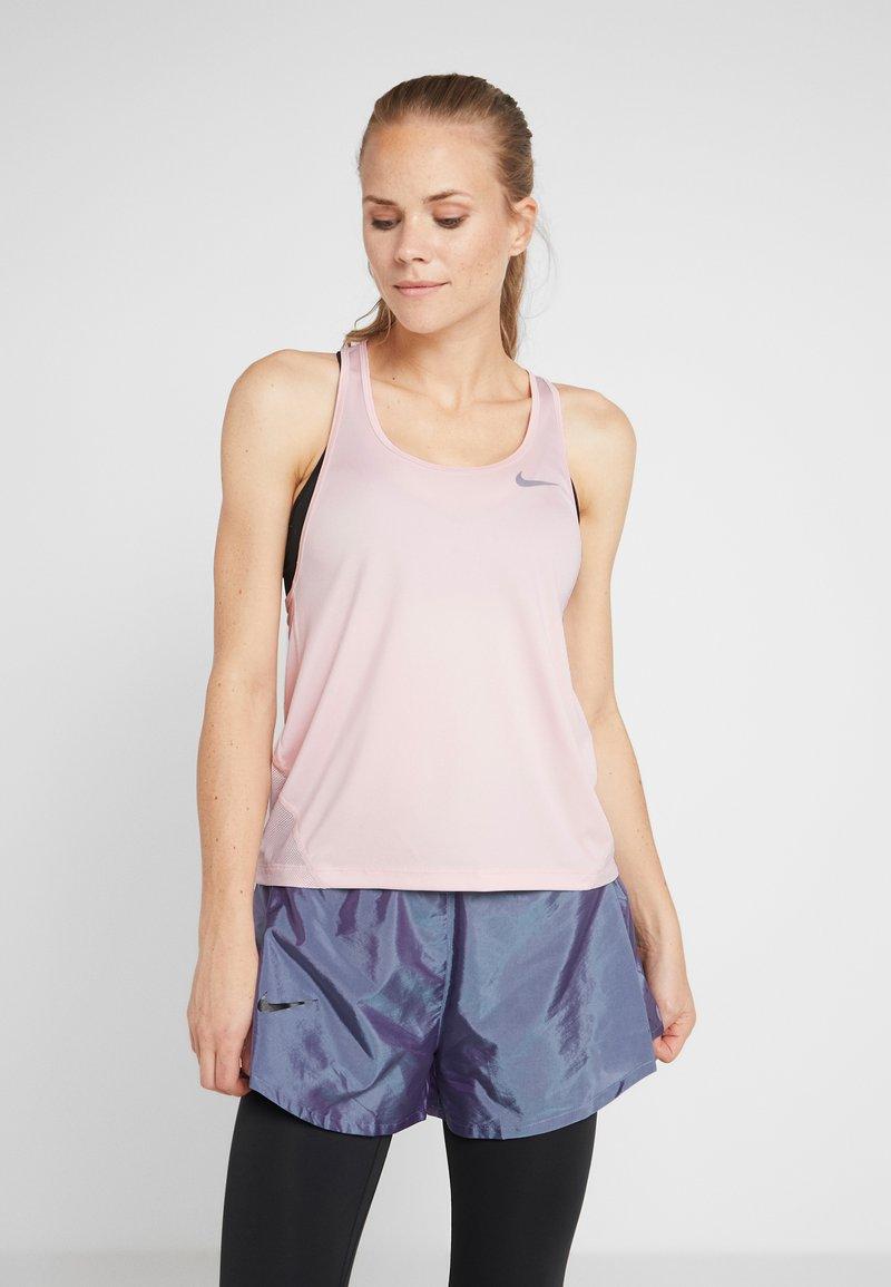 Nike Performance - MILER TANK RACER - Sports shirt - echo pink/reflective silver