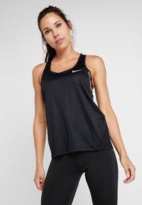 Nike Performance - MILER TANK RACER - Treningsskjorter - black - 0