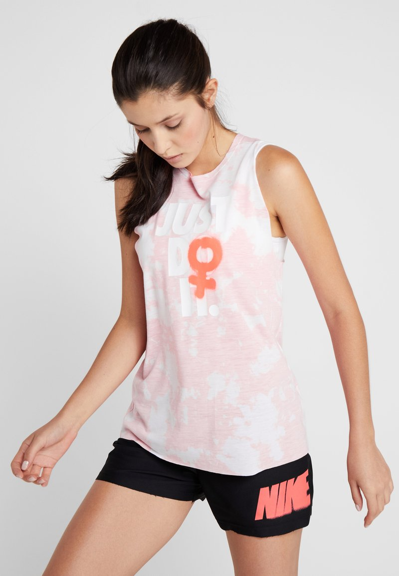 Nike Performance - REBEL TIE - Sports shirt - bright crimson/white