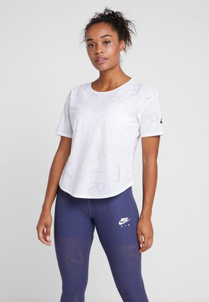 AIR - Basic T-shirt - white/black