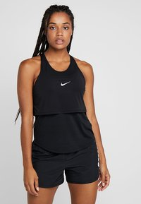 Nike Performance - TANK BREATHE - Sports shirt - black/reflective silver - 0