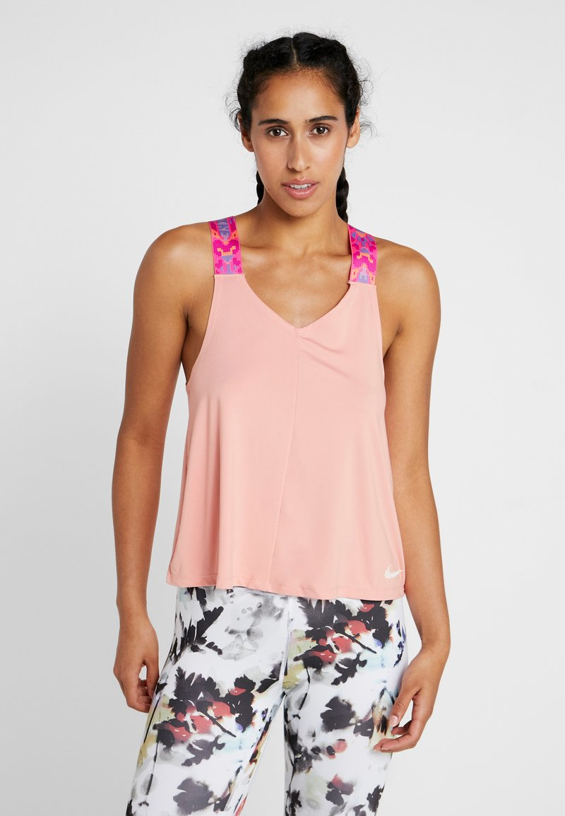 Nike Performance - TANK ELSTKA - Sports shirt - pink quartz