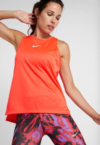 Nike Performance - TANK REBEL - Sportshirt - bright crimson/white - 3