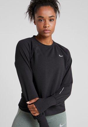 MIDLAYER TWIST - Sweatshirt - black/reflective silver