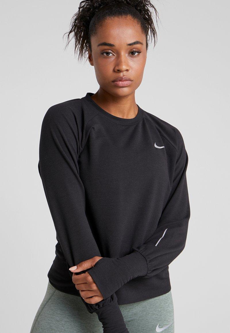 Nike Performance - MIDLAYER TWIST - Sweatshirt - black/reflective silver