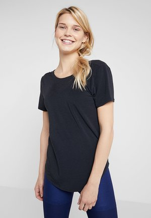 TOP TWIST - Camiseta estampada - black/eflective silver