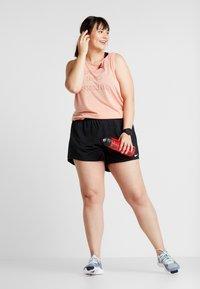 Nike Performance - YOGA PLUS - Koszulka sportowa - pink quartz/heather/light redwood - 1