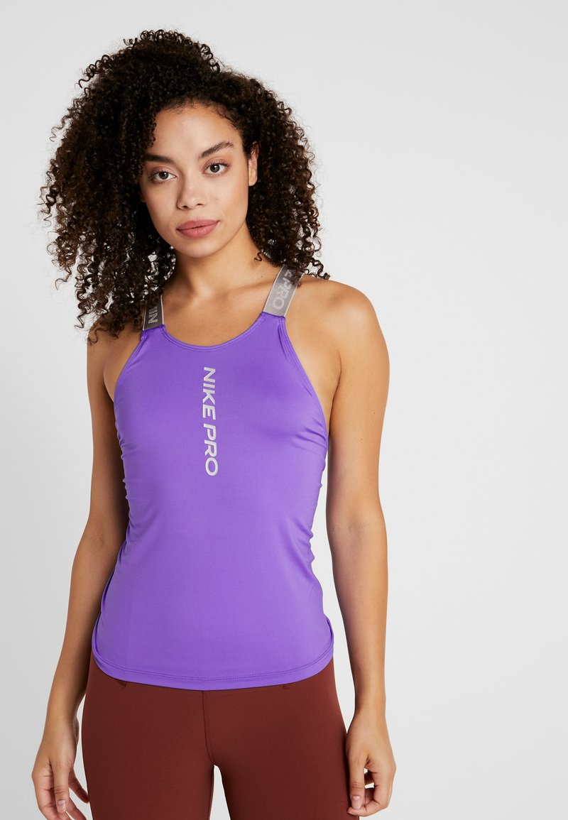 Nike Performance - CAPSULE ELASTIKA TANK  - Funktionströja - psychic purple/metallic silver