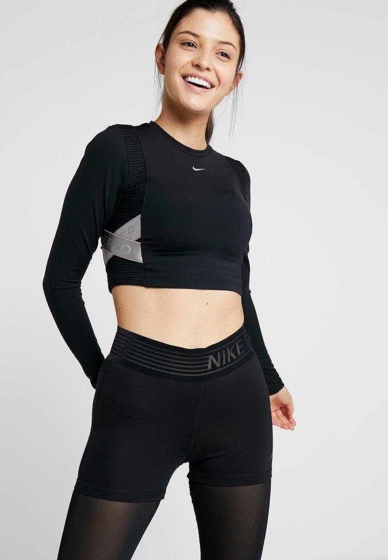 Nike Performance - CAPSULE AERO-ADAPT - Sports shirt - black/metallic silver