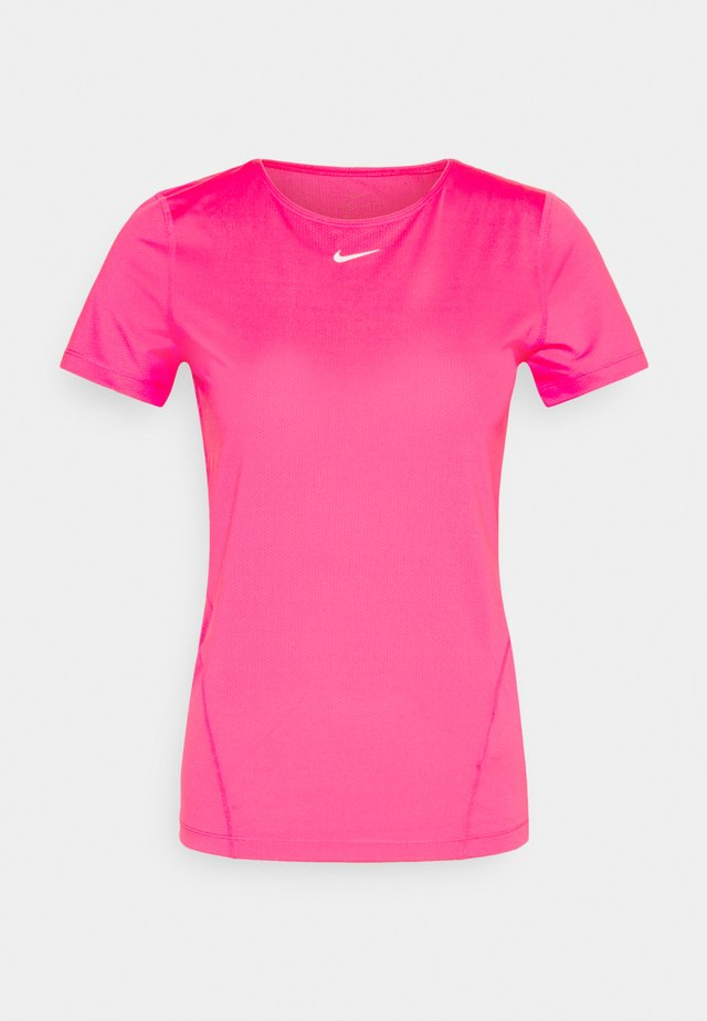 ALL OVER - Print T-shirt - hyper pink/white