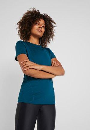 Print T-shirt - midnight turquoise/black