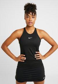 Nike Performance - DRY TANK - T-shirt sportiva - black/white - 0